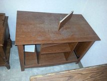 Nice Modern Cherry TV Stand with Shelves! in DeKalb, Illinois