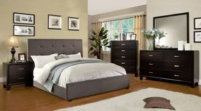 New Charcoal Linen QUEEN Bed Frame FREE DELIVERY in Miramar, California