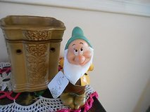 """New DISNEY SNOW WHITE  """"BASHFUL"""" GARDEN GNOME Figurine Statue!   MINT with Tag in Bellaire, Texas"""