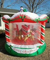 Christmas Airblown Carousel Animated in Naperville, Illinois