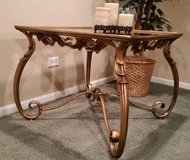 End Table - Metal and Glass - Very Heavy - High End in Naperville, Illinois