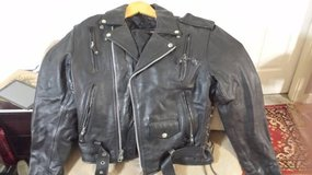 Men's Leather Motorcycle Jacket sz 42 in Houston, Texas