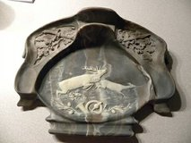 Incolay Stone Buck/Deer Leaping Pipe/Desk Tray- Very Nice in Glendale Heights, Illinois