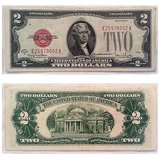 1928-G Red Seal Note $2 currency paper money about uncirculated  beautiful note in Olympia, Washington