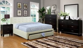 New Ivory FULL Platform Bed with Slats and Storage FREE DELIVERY in Miramar, California