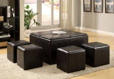 New Coffee Table and 4 Ottomans-- 5 Piece Set FREE DELIVERY in Miramar, California