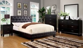 New Black Tufted Bed KING DELIVERY4FREE in Miramar, California