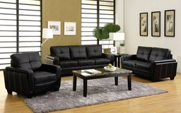 New Dwyer Black Leatherette Sofa + Loveseat FREE DELIVERY in Miramar, California