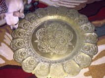 Middle Eastern Brass Serving Plate or TAble Top in Byron, Georgia