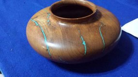 Wood Bowl With Turquoise Inlay in Houston, Texas