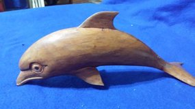 Carved Wood Porpoise in Houston, Texas