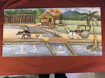 f. r. yumul painting 3 d wood texture with wood phillipines real & signed 5139 in Huntington Beach, California