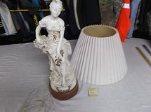 one of a kind french lamp / statue woman sitting bone white 8353 in Fort Carson, Colorado