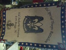 82 82nd 82d special troops battalion 82nd airborne division fort bragg blanket in Huntington Beach, California