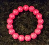Red Bead Bracelet - Stretch in Wheaton, Illinois