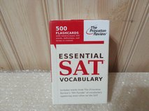 New Princeton review essential sat vocabulary 500 flash cards - complete - euc in Naperville, Illinois