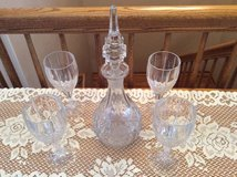 ELEGANT GLASS DECANTER SET in DeKalb, Illinois