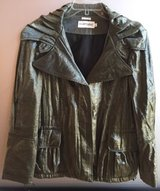 Hilary Radley New York Women's Shimmery Metallic Green Coat Size L in Naperville, Illinois