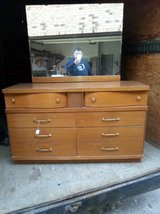 Awesome Mid Century (MCM) Vintage Dresser with Mirror in DeKalb, Illinois