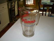 Vintage HAMM'S Born in the and of sky blue waters 60oz Beer Pitcher in Brookfield, Wisconsin