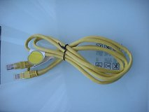 yellow eithernet patch cable cat5e cat5 cat 5 5e 6' ft in Joliet, Illinois