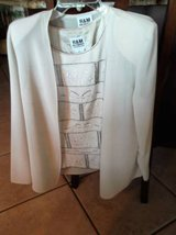 Size 10 cream colored 3 piece outfit in Las Cruces, New Mexico