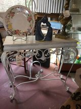White Iron Sofa Table in Temecula, California