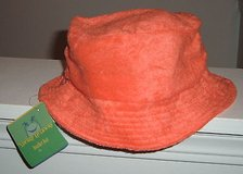 Brand New w Tags ~ Spring Getaway Womens ORANGE Terry Cloth Bucket Hat in Joliet, Illinois