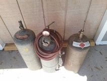 3 Acetylene Tanks/hose/regulator & torch in Beaufort, South Carolina