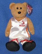 "Brand New ~ TY Beanie Bear Shaq O'Neal Basketball Dressed 10"" Tall 2006 Plush Shaq Bear in Morris, Illinois"
