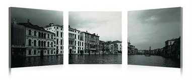 Venice Waterway 3 Piece Photographic Print on Canvas Set in Tomball, Texas