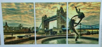Statue at the London Bridge 3 Piece Photographic Print on Canvas Set in Tomball, Texas
