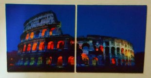 Latenight Colosseum 3 Piece Photographic Print on Canvas Set in Tomball, Texas