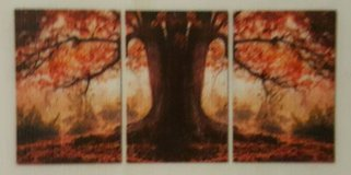 Autumn Trees 3 Piece Photographic Print on Canvas Set in Tomball, Texas