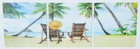 Beach Day 3 Piece Photographic Print on Canvas Set in Kingwood, Texas