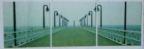 Lonely Boardwalk 3 Piece Photographic Print on Canvas Set in Tomball, Texas