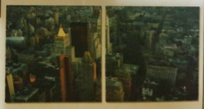 Aerial NYC 2 Piece Photographic Print on Canvas Set in The Woodlands, Texas