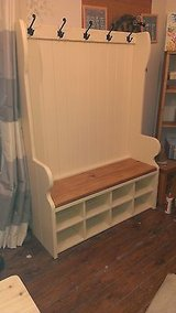 ##handmade bespoke pew / settle with coat hooks and storage porch free delivery* in Lakenheath, UK