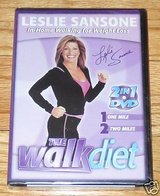 Brand New ONLY $1.50 ~ The Walk Diet DVD Leslie Sansone ~ 2 in 1 In Home Walking For Weight Loss in Morris, Illinois