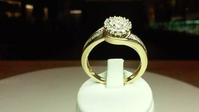 Vintage Style Yellow Gold Diamond Cluster Ring in Camp Pendleton, California