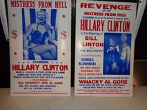 Political Satire Posters 1998 Bill&Hillary in Elizabethtown, Kentucky
