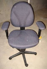 Desk Chair - Gray Cloth in Lockport, Illinois