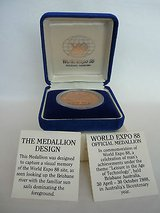 world expo 88 official medallion brisbane australia-prooflike encapsulated in Yucca Valley, California