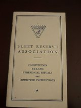 fleet reserve association constitution bylaws rituals instructions wwii usn in Yucca Valley, California