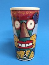 "RARE Collectible Chaleur Travel Mug Cup ""Morning Commute"" Ringer Lid in Morris, Illinois"
