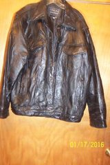 Leather coat mens, XL black in Perry, Georgia