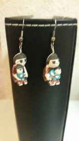Vintage Native American storyteller earrings in Camp Pendleton, California