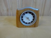 Wood 5.5'' alarm clock,,Like New in Joliet, Illinois
