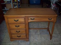 "Vintage 1960 Link-Taylor ""Harvest Oak"" Desk W/Chair in Hinesville, Georgia"