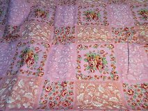 "pink rose floral flower 44""x60"" cotton blend fabric quilt dress sew in Kingwood, Texas"